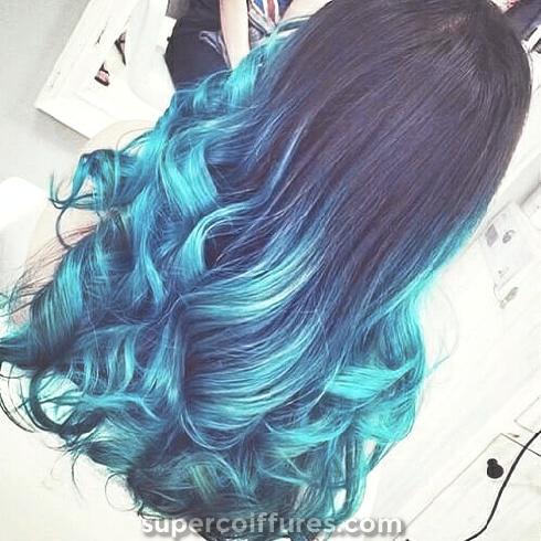 50 styles de cheveux bleu ombré super cool