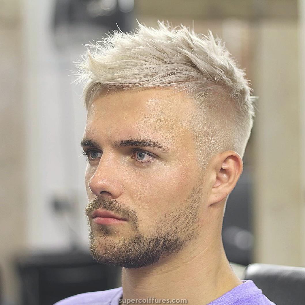 Coupe de cheveux pour les hommes Г©lГ©gants pour blond