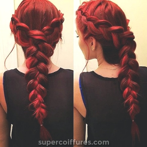30 idées les plus chaudes de cheveux Ombre Rouge