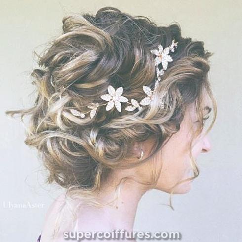 23 Coiffure de mariage la plus glamour pour cheveux courts