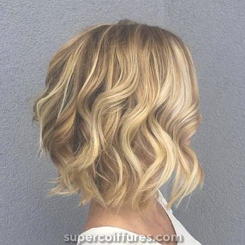25 superbes et charmantes coiffures ondulées Bob