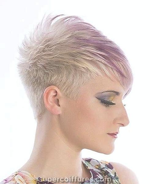 30 coiffures funky pour cheveux courts - Look gras et chaud
