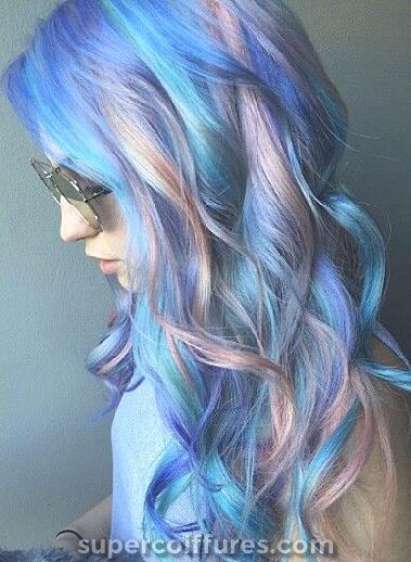 40 idées de cheveux bleu Ombre