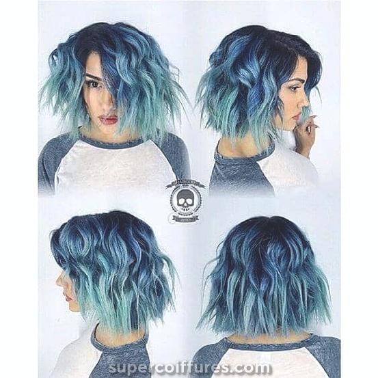 27 coiffures super cool bleu ombre