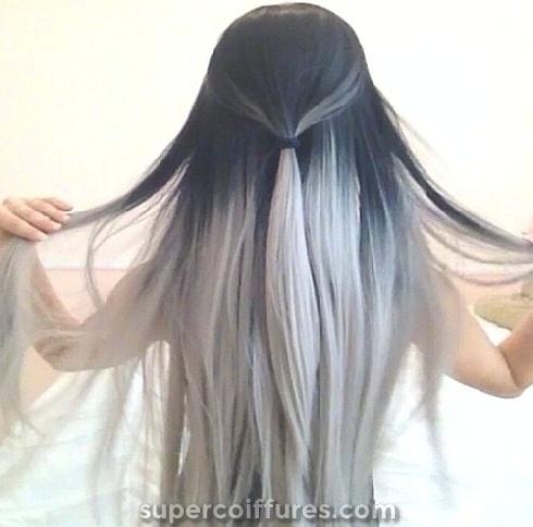 30 idées de cheveux noir Ombre