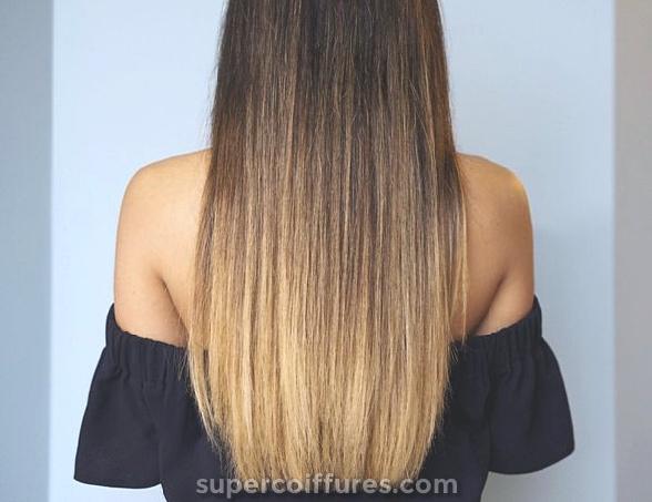 Varredura em cabelo castanho claro para cabelo escuro